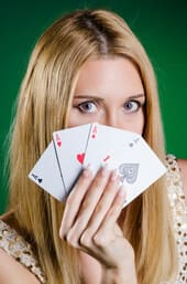 Kvinna på casino